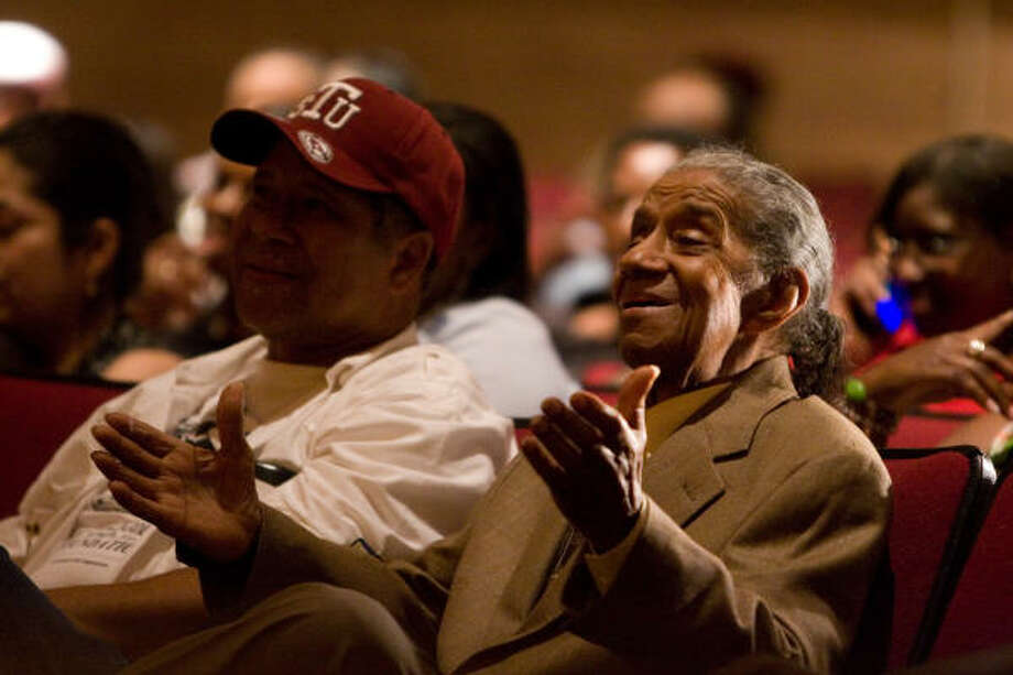 "Conrad O. ""Prof"" Johnson was honored during a tribute/fundraiser for the music foundation in his name. Photo: File Photo"