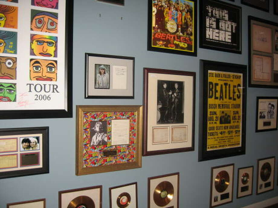 Visitors to Las Vegas' Symbolic Gallery can browse - or buy - memorabilia associated with the Beatles and other notables from music and art. Photo: Kristin Finan, CHRONICLE