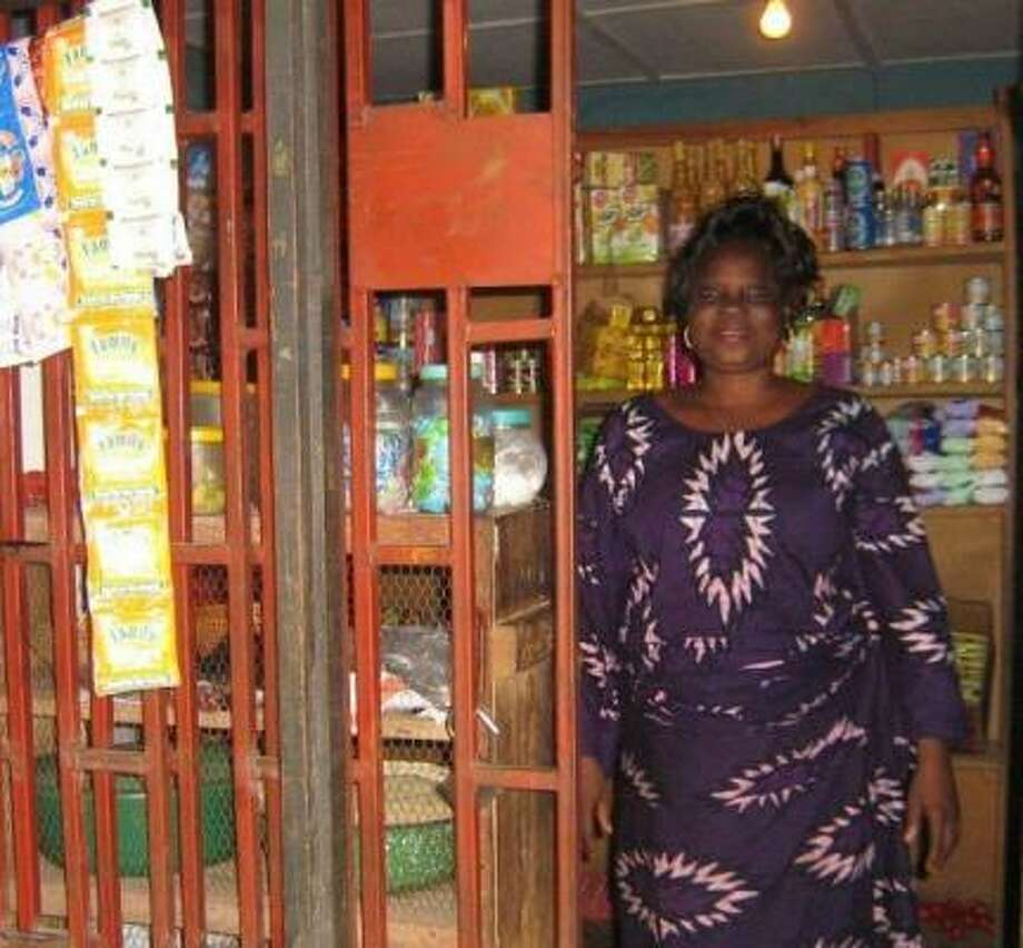 Nigerian Margaret Osakwe received an $875 loan to buy provisions for her grocery store. Part of the money came from University of St. Thomas students. Photo: CHRISTIAN RURAL AID NETWORK