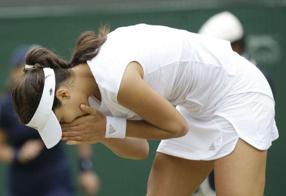 Ana Ivanovic of Serbia was eliminated on Friday by China's Zheng Jie. Photo: ALASTAIR GRANT, AP