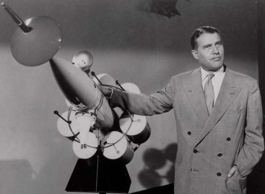 Wernher von Braun detailed his plans for exploring space through articles published in Collier's magazine in the early 1950s. Photo: WALT DISNEY PRODUCTIONS, ASSOCIATED PRESS