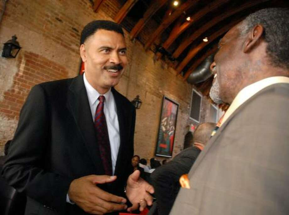 C.O. Bradford attends a fundraiser for Judge Maria Jackson at the Red Cat Jazz Cafe downtown on Thursday. Photo: DAVE ROSSMAN, FOR THE CHRONICLE