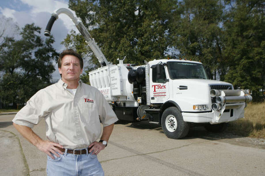 Here's Bobby Hillin Jr. in his other role as a trucking company executive. Photo: Steve Campbell, Chronicle