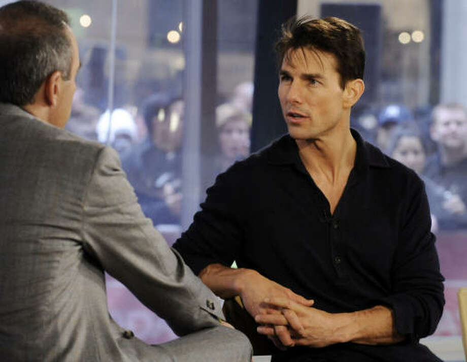 Tom Cruise says he regrets the tongue-lashing he gave Matt Lauer on NBC's Today show in 2005. Photo: Associated Press