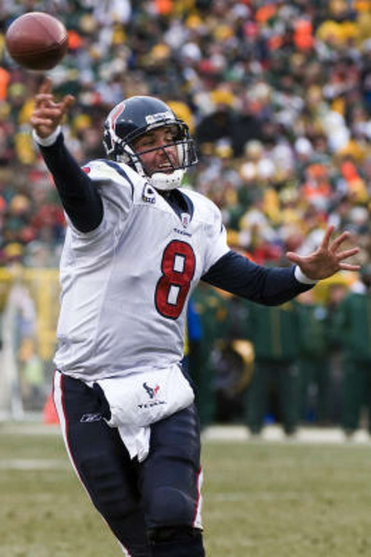 Pay attention, Houston. You might be watching the development of an NFL elite-level quarterback in Matt Schaub, Jerome Solomon writes.