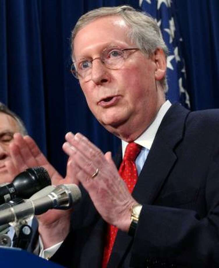 Senate Minority Leader Mitch McConnell denied the GOP blocked the bill. Photo: DENNIS COOK, ASSOCIATED PRESS