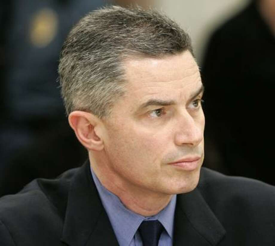 Ex-New Jersey Gov. Jim McGreevey faced off Thursday in a pretrial divorce hearing with wife Dina Matos McGreevey. She says she did not know he was gay. He says he fulfilled the marriage contract. Photo: Mike Derer, AP