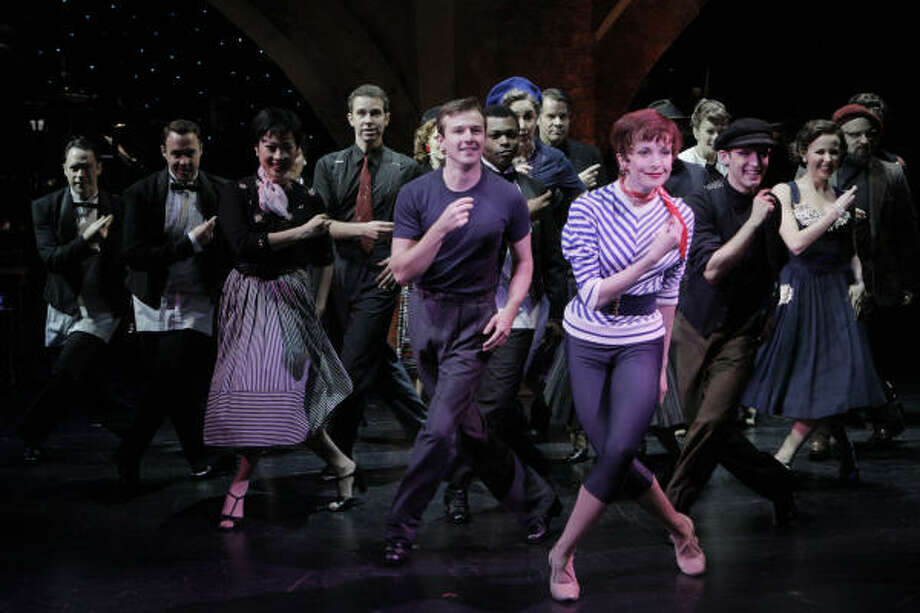 Meredith Patterson, right front, and the ensemble go through their paces in this scene from The Gershwins' An American in Paris. Photo: Photo By Michal Daniel