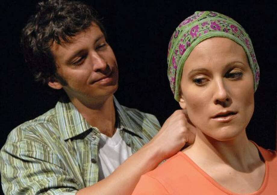 Brad (John Ashley Brown) and Tracy (Kristy Cates) deal with life, death and marriage in Unbeatable. Photo: Laura Durant