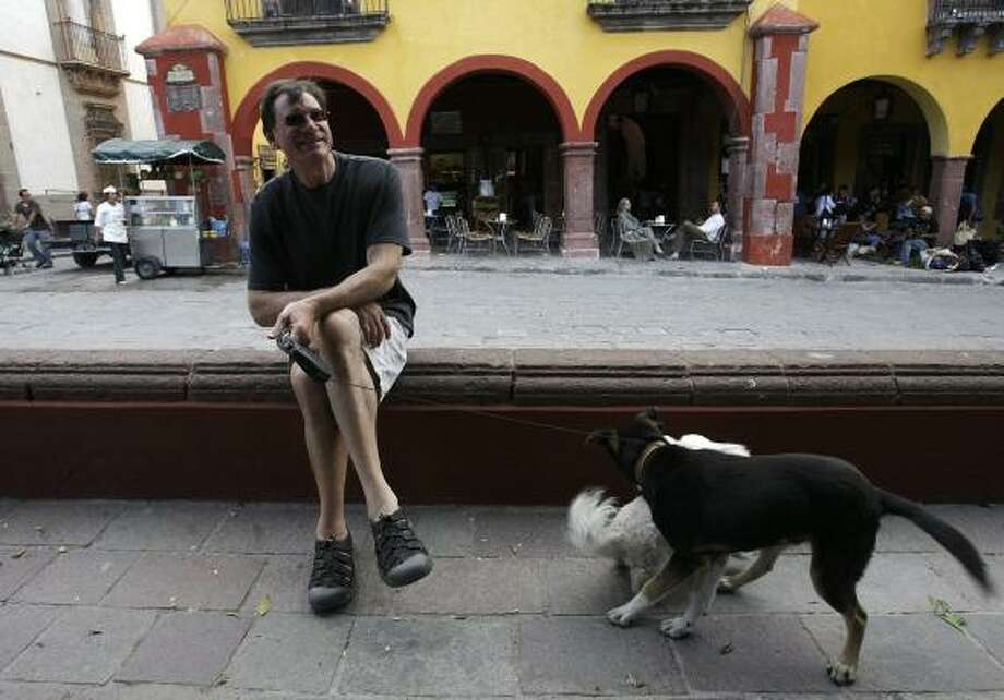 """Stewart Solle, a former California real estate developer now living in San Miguel de Allende, Mexico, said, """"I have a lot of friends who are Republicans from Texas, and we don't talk."""" Photo: JERRY LARA, SAN ANTONIO EXPRESS-NEWS"""