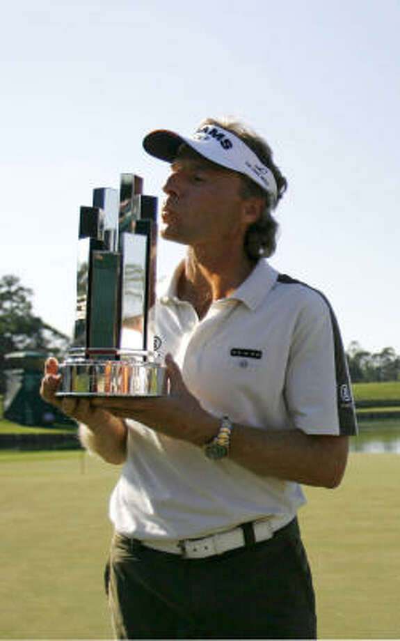 Bernhard Langer won the Administaff Small Business Classic for the second consecutive year. Photo: Karen Warren, AP