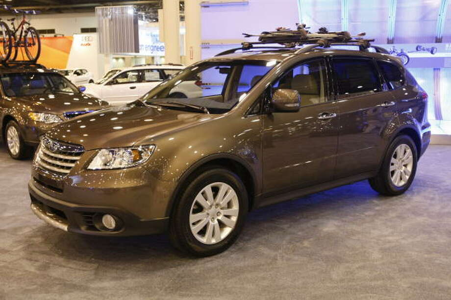 """Subaru TribecaWhat Edmunds said:""""The Tribeca has a third row of seats, but it's only useful for children. Most competitors can accommodate adults.""""Source:Edmunds Photo: Kevin Fujii, Chronicle"""