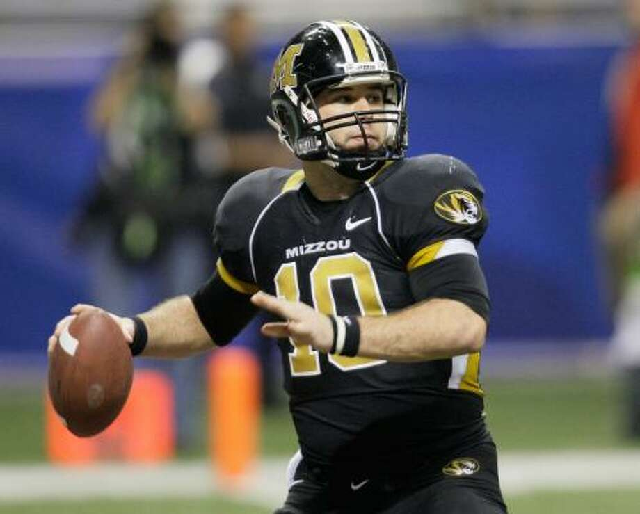 Missouri QB Chase Daniel threw for a school record 4,306 yards last season. Photo: Eric Gay, AP
