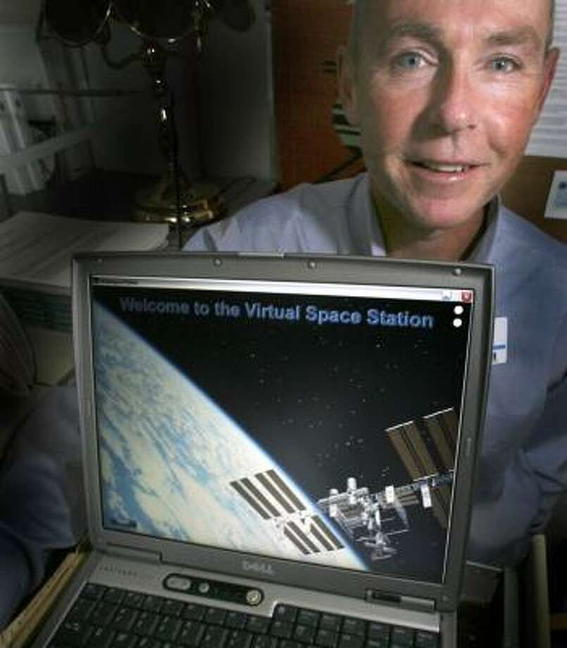 Dr. Mark Hegel, a Dartmouth psychologist, is the face of the Virtual Space Station program astronauts will be able to access on personal laptops to treat stress or depression. Photo: JIM COLE, ASSOCIATED PRESS