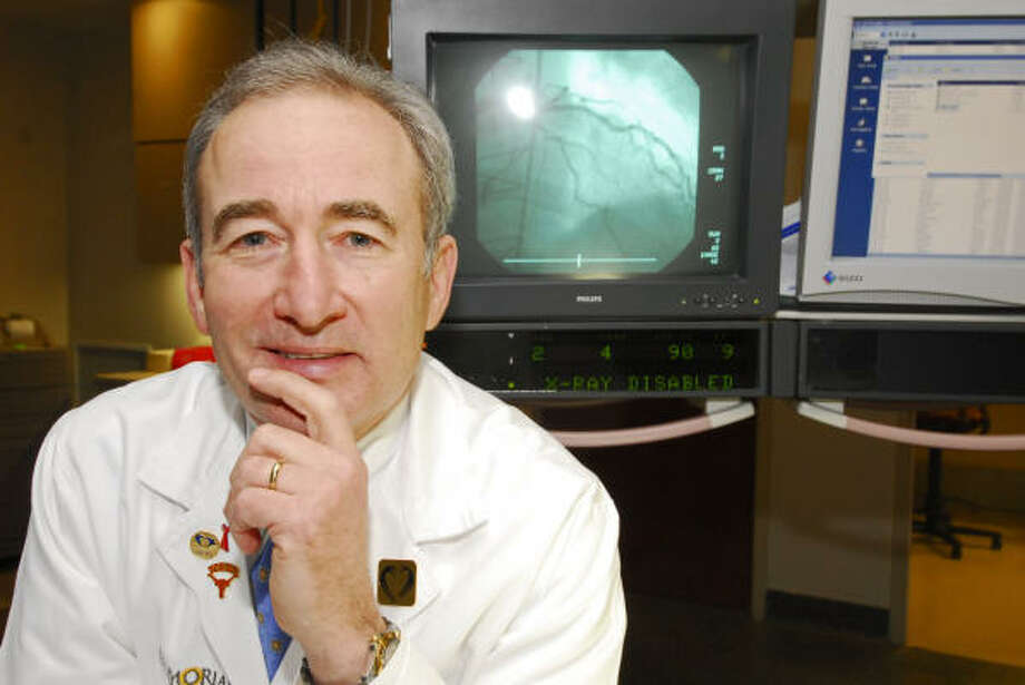 Dr. Richard Smalling, professor in the Division of Cardiology at the University of Texas Medical School at Houston, has helped reduce the mortality rate for heart attacks. Photo: Tony Bullard, For The Chronicle