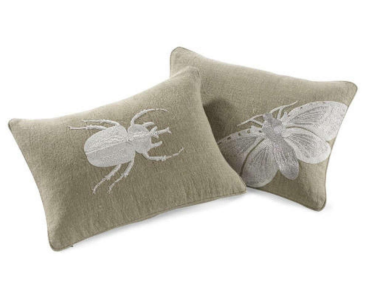 Moth & Beetle Zardozi pillows, $98 each at wshome.com