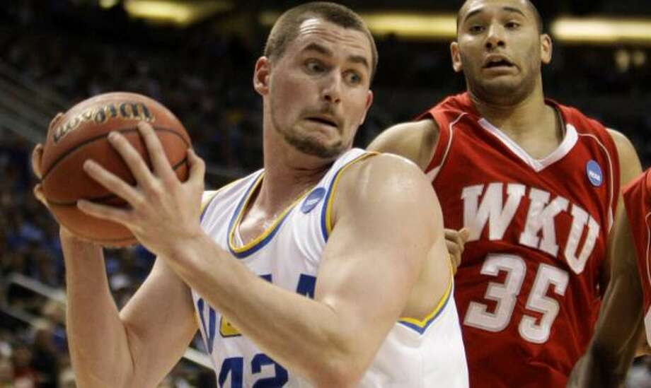 Kevin Love and UCLA shattered Western Kentucky's glass slipper. Photo: Chris Carlson, AP