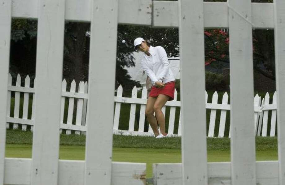 Michelle Wie works on her short game ahead of the Canadian Women's Open in Ottawa, Ontario. Photo: Tom Hanson, Canadian Press