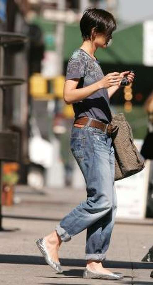 Actress Katie Holmes has been spotted lately in pegged (rolled up) jeans. Photo: James Devaney, WireImage