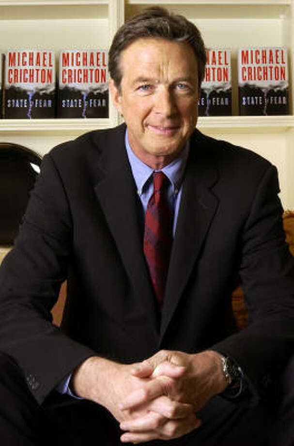 Michael Crichton is the author of historic and prehistoric science fantasies as Jurassic Park, Timeline and The Andromeda Strain. Photo: JIM COOPER, Associated Press