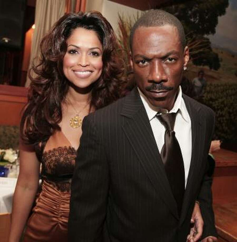 """""""It is not necessary to define our relationship further,"""" Tracey Edmonds and Eddie Murphy said in a statement. They had planned to legalize their marriage in the U.S. after exchanging vows near  Bora Bora. Photo: Kevin Winter, Getty Images"""