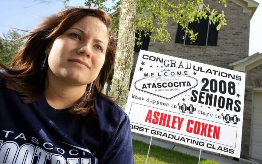 Ashley Coxen, 17, would rather finish her senior year in another state than risk not graduating because of the TAKS. The Atascocita High School student missed the mark by one question. Photo: ERIC KAYNE, CHRONICLE