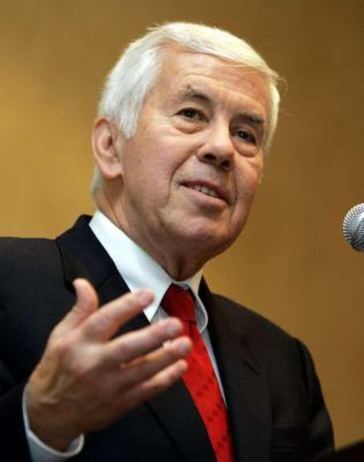 Sen. Richard Lugar, R-Ind. Photo: MICHAEL CONROY, AP