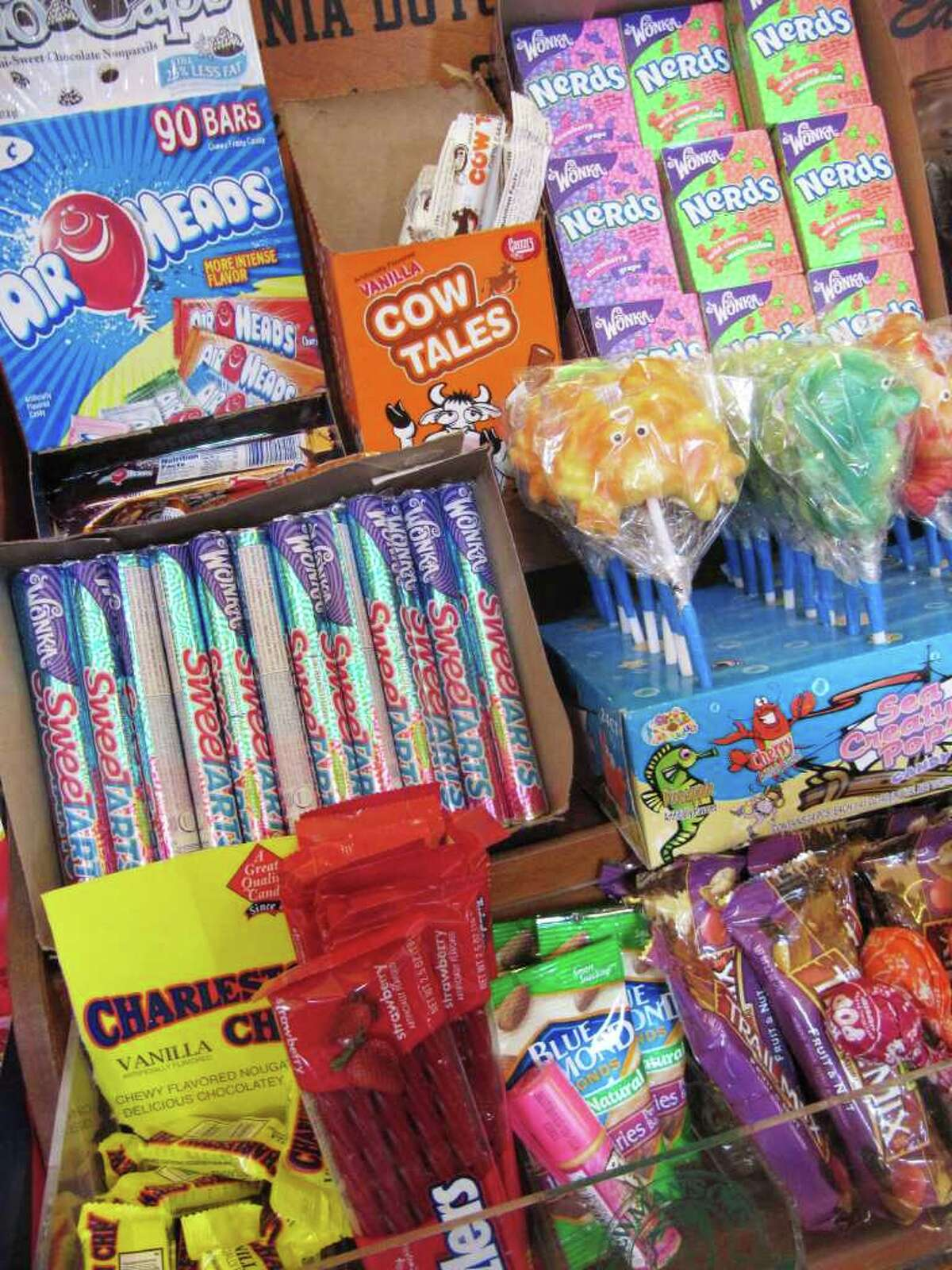 Pictured is some of the candy available for purchase at Joey's By The Shore, located at Compo Beach. Children love the expansive candy offerings and adults and children love the main menu, which includes, among other things, a lobster roll and a portabella and mushroom wrap.