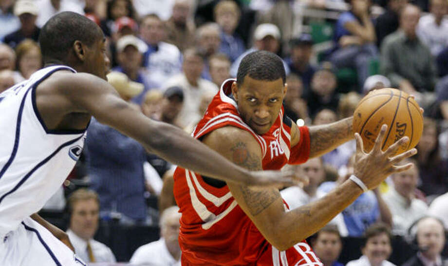 Tracy McGrady didn't take over the game when the Rockets needed him to in Game 4. Photo: Steve C. Wilson, AP