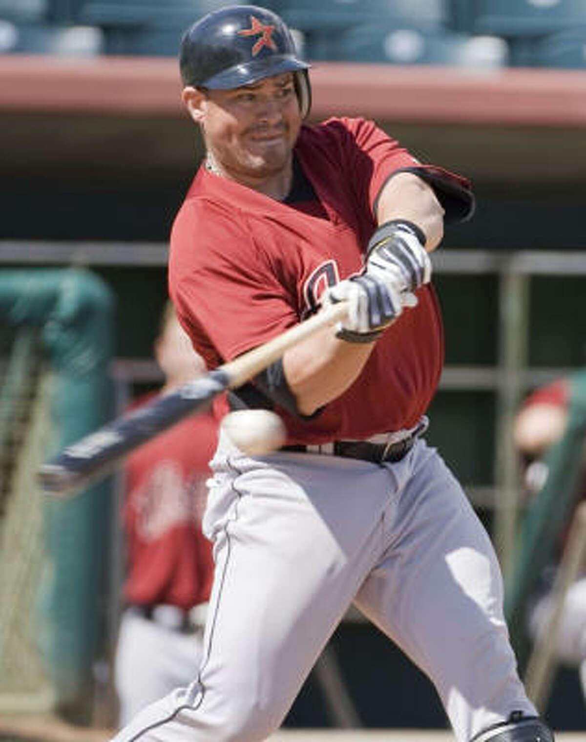 Humberto Quintero takes a swing.