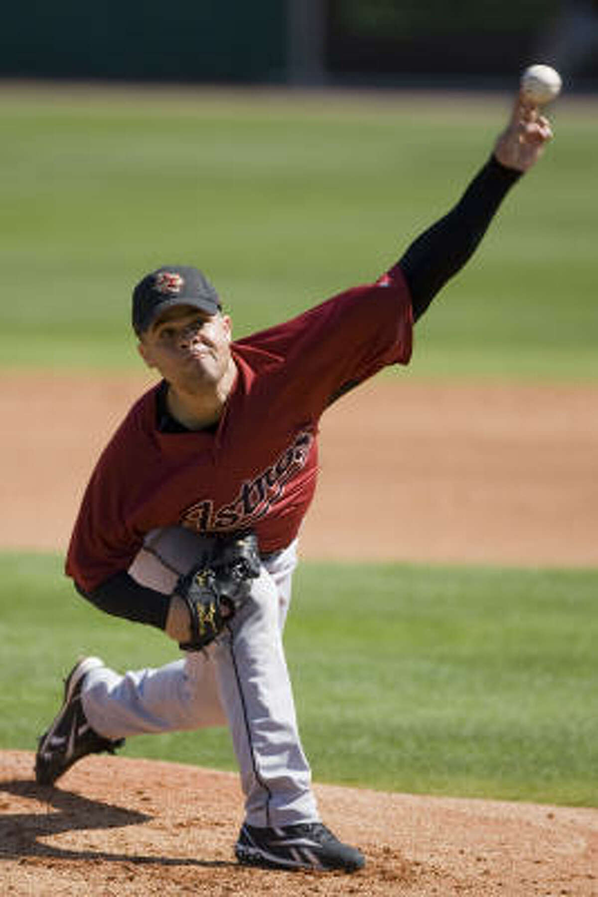 Wandy Rodriguez threw a perfect inning Tuesday.