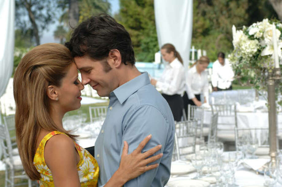 Henry's (Paul Rudd) fiancée Kate (Eva Longoria Parker) is killed on their wedding day in Over Her Dead Body. Photo: New Line Cinema