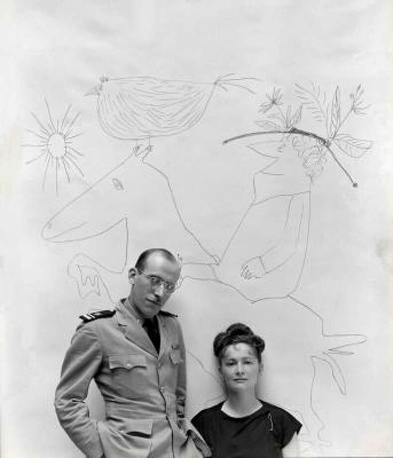 Saul Steinberg, who died in 1999 and is best known for his New Yorker covers and illustrations, was married to Hedda Sterne, the oldest surviving painter associated with the first generation of abstract expressionism. Photo: GEORGE PLATT LYNES, Estate Of George Platt Lynes