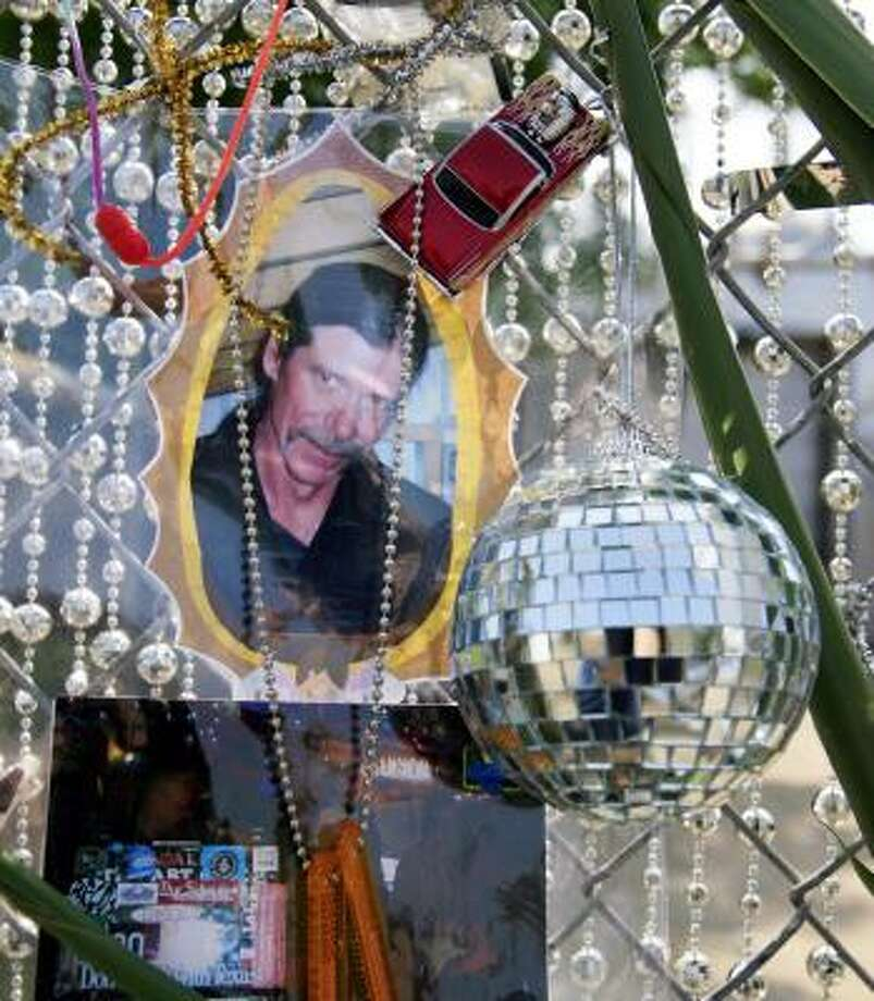 A tribute to Tom Jones hangs outside the Art Car Museum. Photo: ERIC KAYNE, CHRONICLE