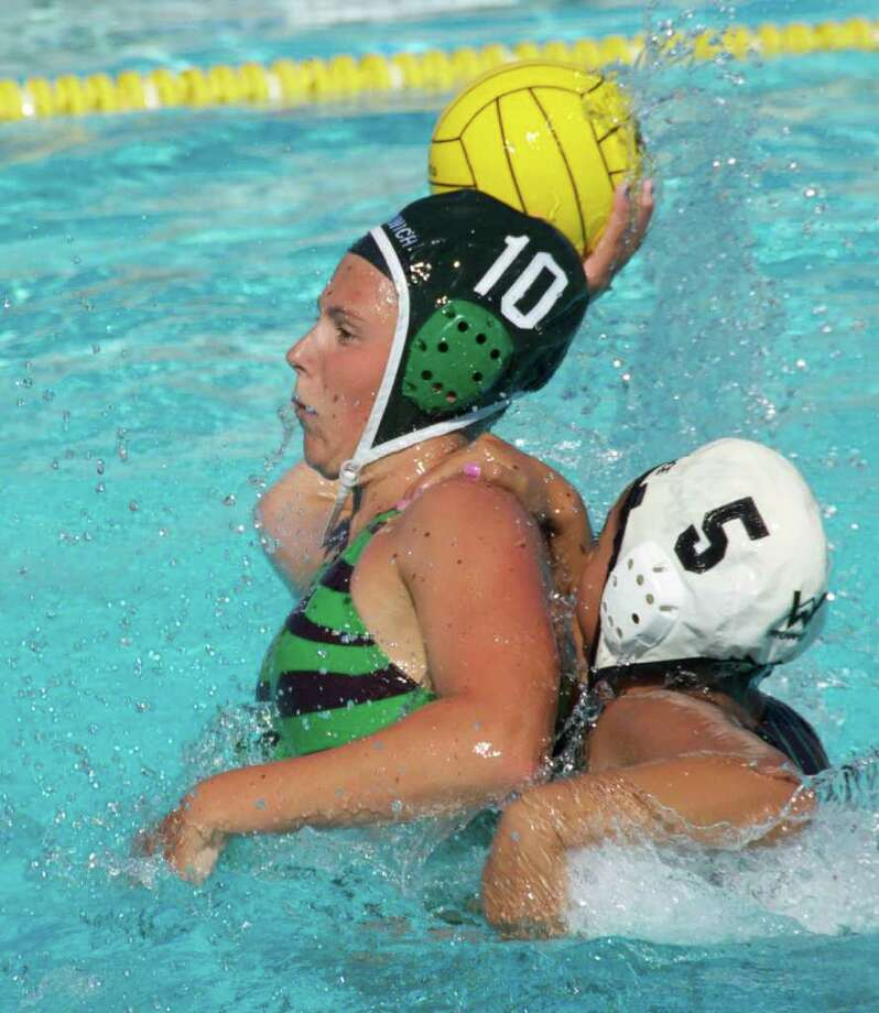 Paige Neary (#10) who had five goals in the GWP 14/under girls' 9-6 win over Los Angeles and two goals in their 8-6 win over the Elite Water Polo Club from Murrieta, CA. Photo: Contributed