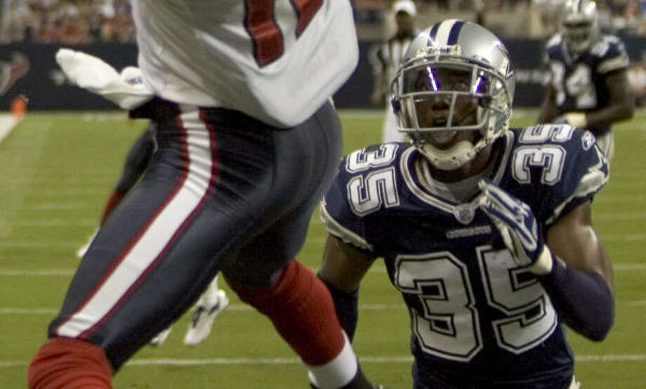 Jacques Reeves comes to the Texans with four years of NFL experience in the Cowboys' secondary. Photo: Brett Coomer, CHRONICLE