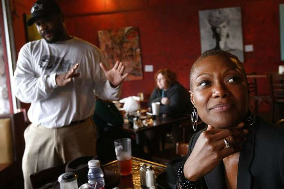 Councilwoman Jolanda Jones, seen in January at the Breakfast Klub, says police wouldn't let her be a witness of an arrest. Photo: MAYRA BELTRÁN, CHRONICLE