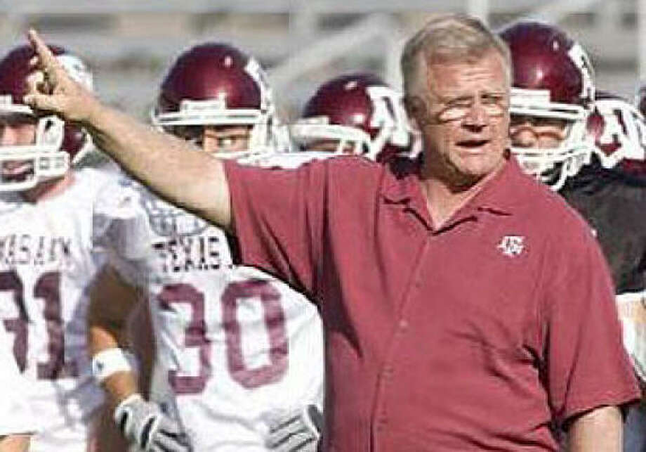 Coach Mike Sherman liked what he saw from the running game at A&M's spring game Saturday. Photo: Aggieathletics.com