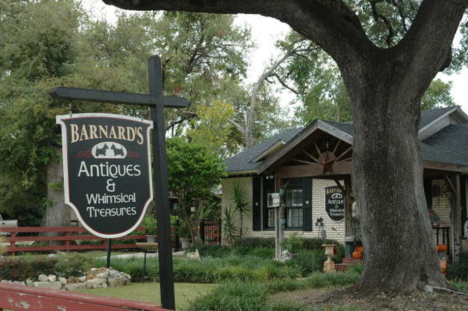 Barnard's Antiques and Whimsical Treasures on Main Street is among 60-plus gift shops in the small Central Texas town. Photo: Harry Shattuck, Chronicle