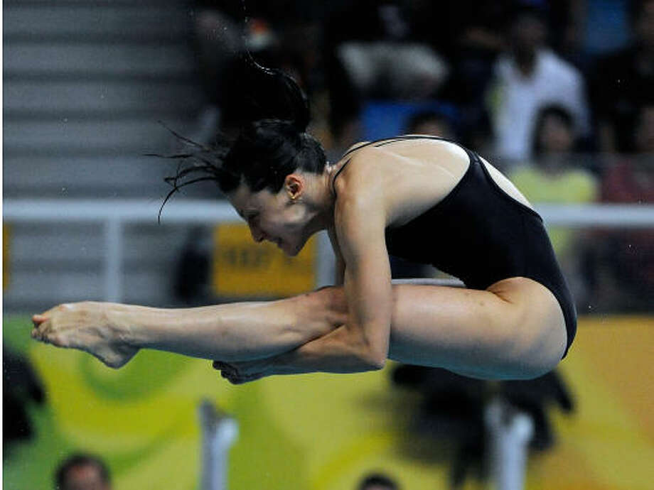Former UH diver Yulia Pakhalina was selected to the first C-USA Hall of Fame. Photo: Harry E. Walker, MCT