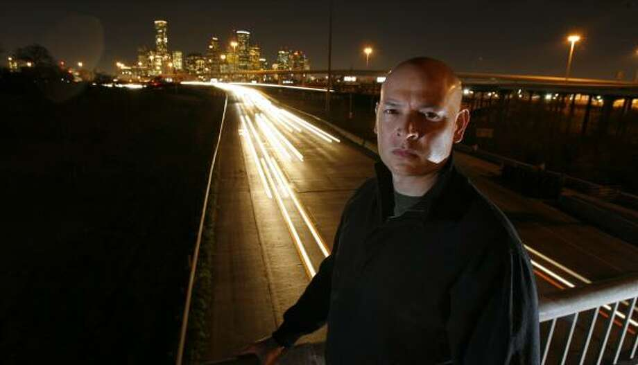 John Reyna was driving up the Gulf Freeway last April when a drunken pedestrian ran in front of his car. The man was killed, through no fault of Reyna's. From 2005 through 2007, 84 pedestrians have been killed along Houston's freeways and access roads. Photo: STEVE CAMPBELL, CHRONICLE