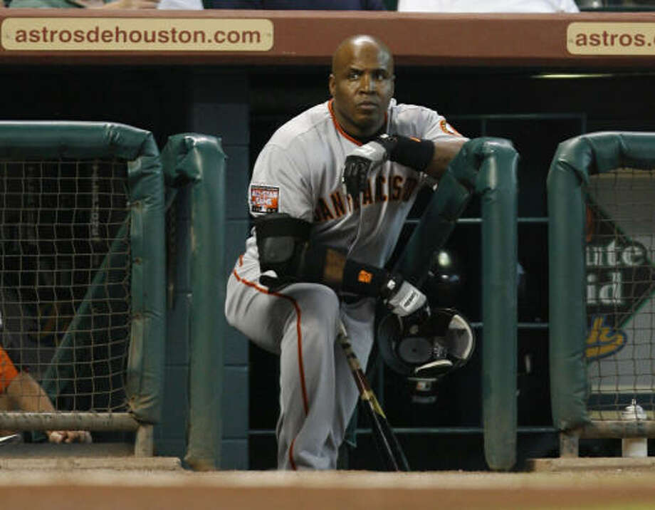 Could Barry Bonds find himself in the home dugout at Minute Maid Park? Astros general manager Ed Wade says the club isn't interested in making that happen. Photo: Karen Warren, Chronicle