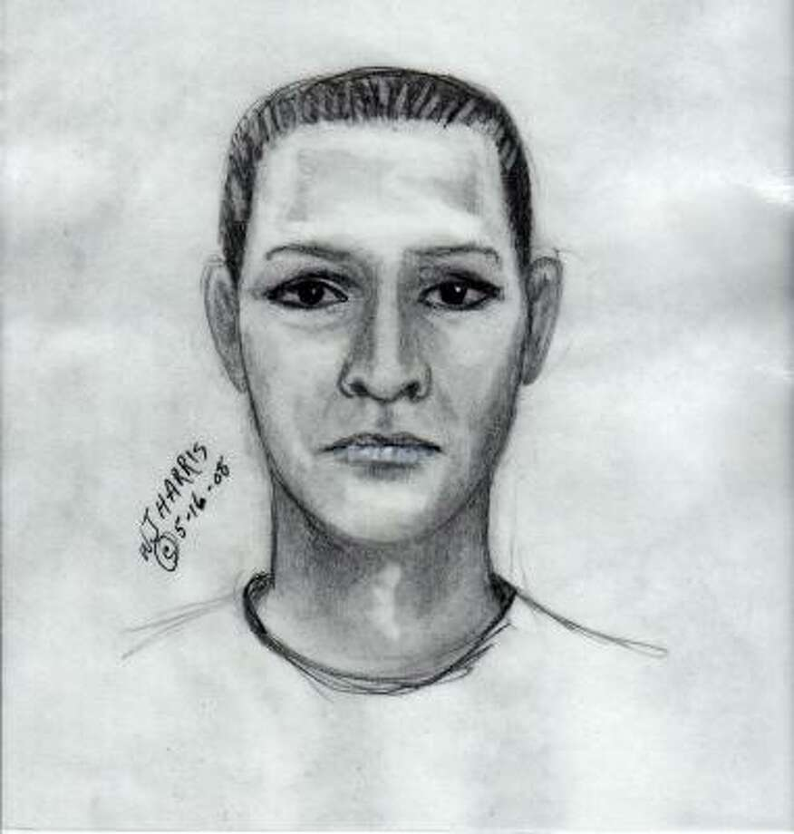 Fort Bend authorities are looking for two men they say robbed taco vendors. This is a sketch of one of two suspects police are seeking. Photo: Handout