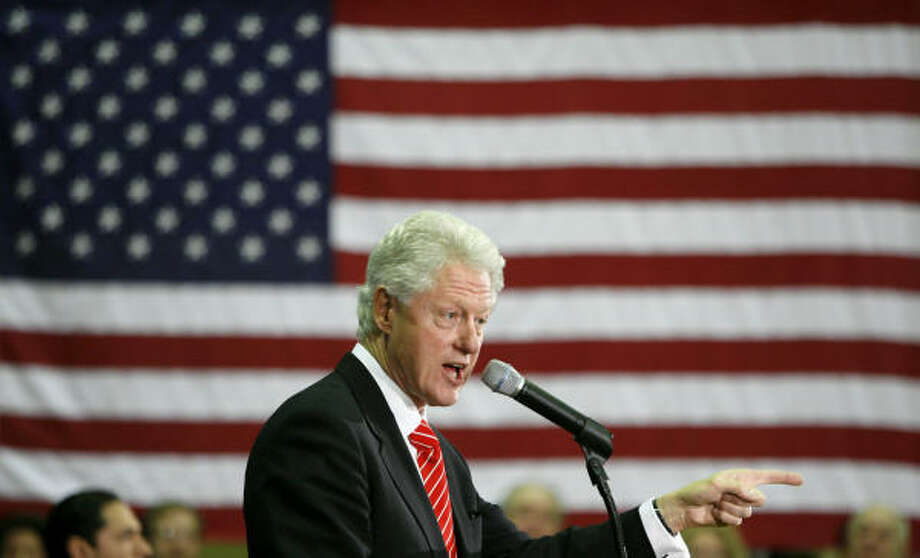 """It's up to you,"" former President Clinton told a crowd at a high school gym in Toledo, Ohio, on Sunday. Photo: MADALYN RUGGIERO, Associated Press"