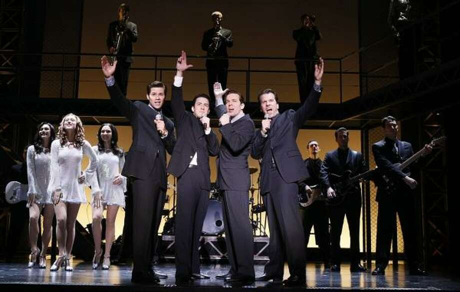 Jersey Boys, the Tony Award-winning musical playing at the Hobby Center for the Performing Arts through Feb. 9, revolves around the lives of members of music group the Four Seasons. Photo: CHRIS BENNION