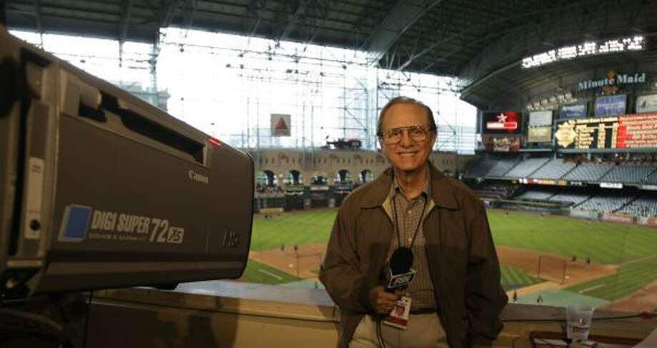 Rene Cardenas started broadcasting Spanish-language games on the radio when the Astros were still named the Colt .45s. Photo: KAREN WARREN, CHRONICLE