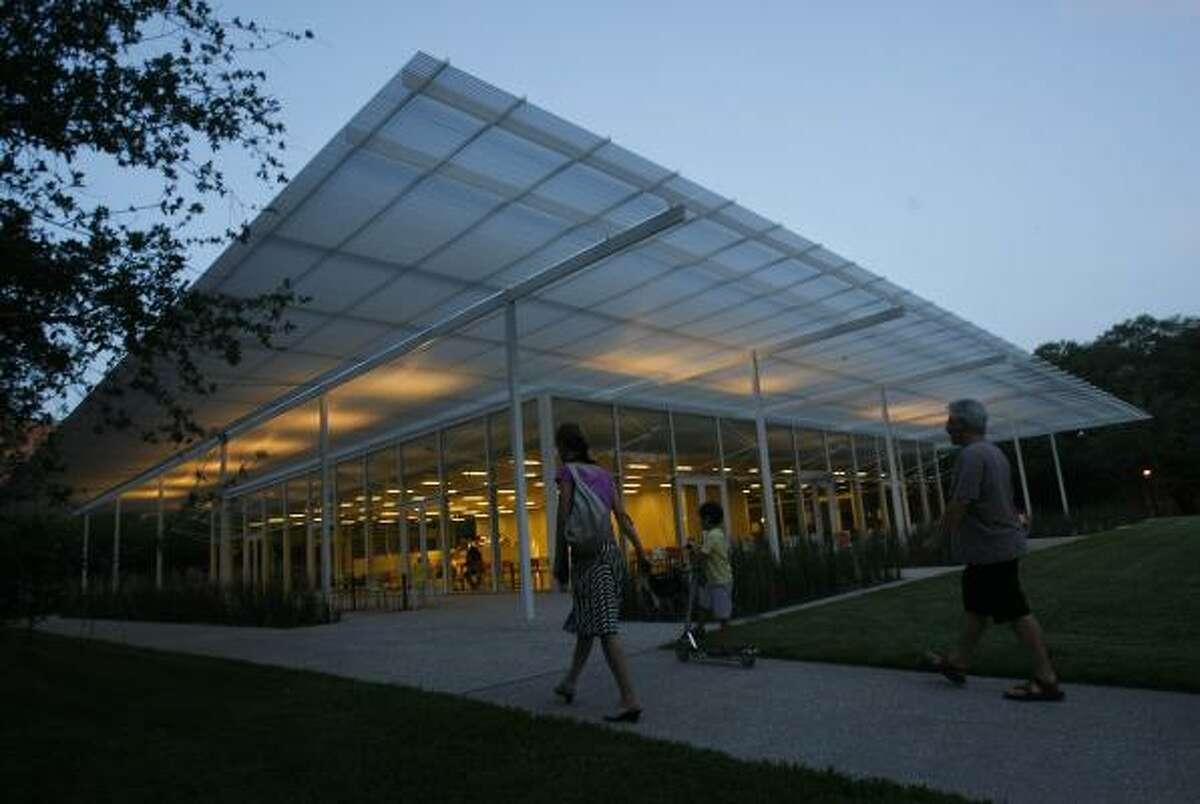 "Architect Thomas Phifer designed the Brochstein Pavilion at Rice University to seem ""porous,"" or easy to enter."