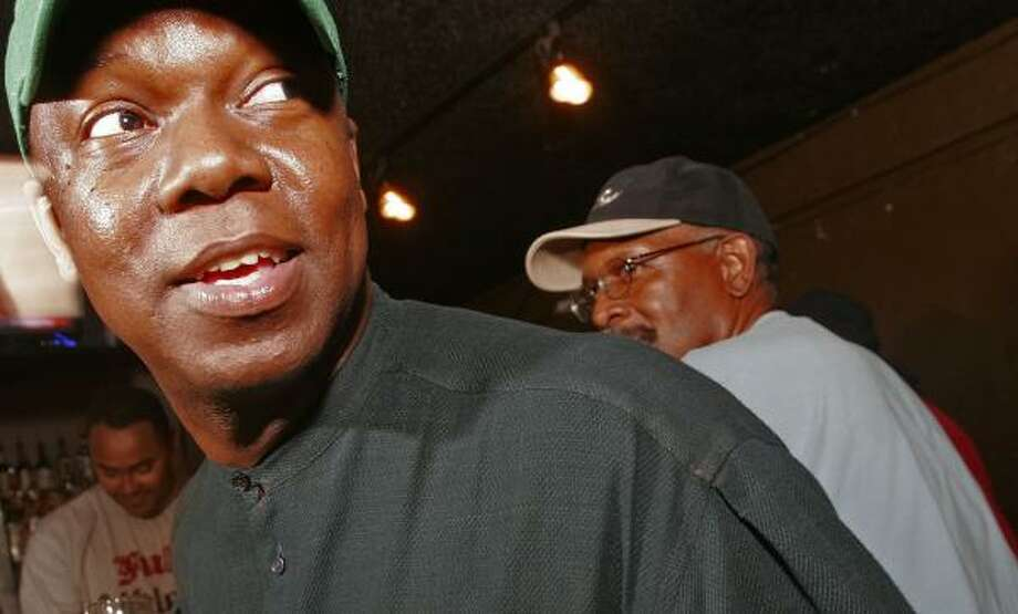 """""""The black people will vote for Mr. Obama,"""" David Tonsall, 44, predicted. Photo: BILL OLIVE, FOR THE CHRONICLE"""