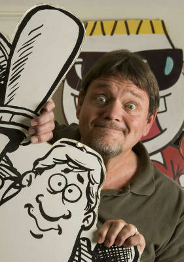 Tank McNamara is on the verge of turning 34, makingt him one of the longest-running characters in comic strips still being drawn by their original creator. Photo: Brett Coomer, Houston Chronicle