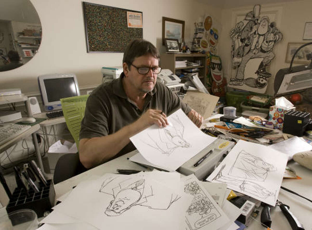 Hinds, 58, says his kids are totally unimpressed that their dad is a cartoonist.